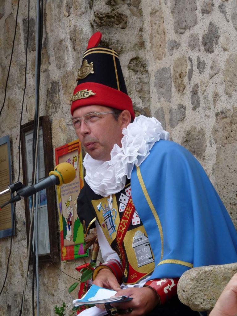 Menterie pendant le festival des Menteurs de Moncrabeau